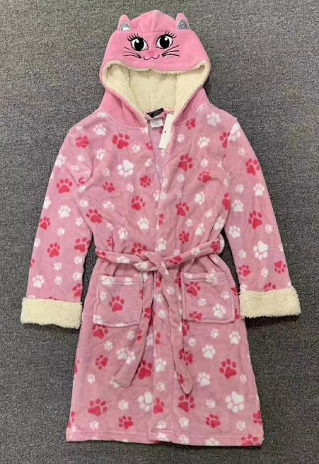 32345 - DELIA's brand Girl's Hooded Sherpa Animal Robe China