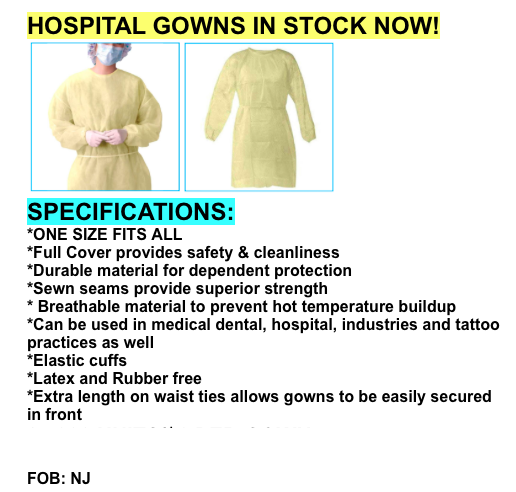 37168 - Hospital Gown offer USA