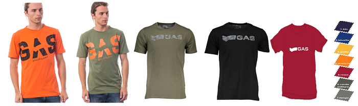 38534 - GAS T-shirts for Men in Italy Europe