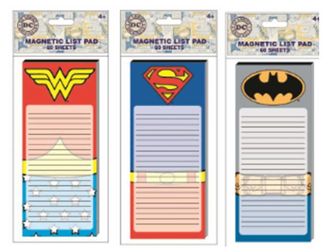 39020 - DC Super Hero Stationery Assortment - Notepads, Pencils, Erasers & Stickers USA